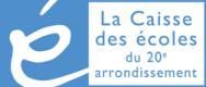 Logo caisse des écoles 20e arrondissement paris