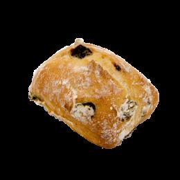 Pain pavé raisins